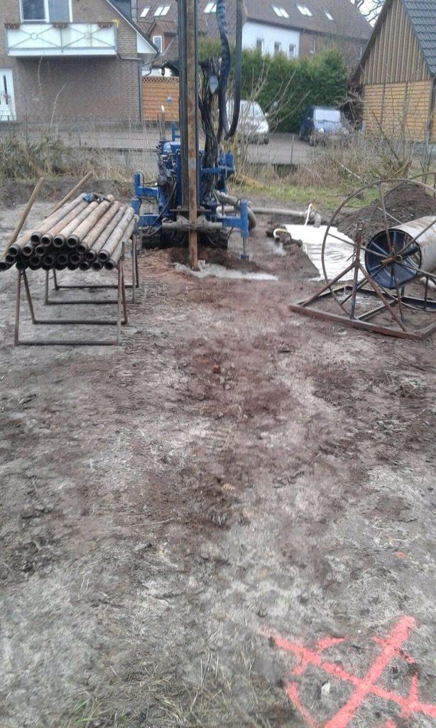 Grossenaspe: 2 Doppel U – Sonden für einen Neubau