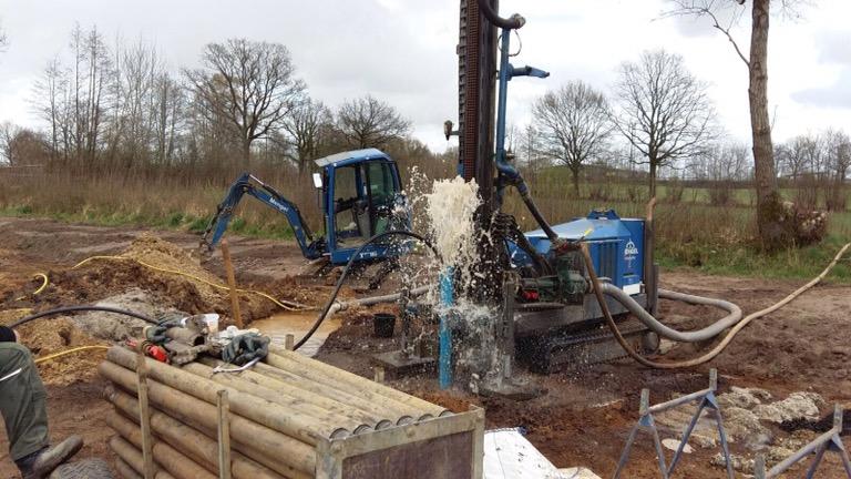 Ammersbek, Brunnen für Neubau eines landwirtschaftlichen Betriebes.