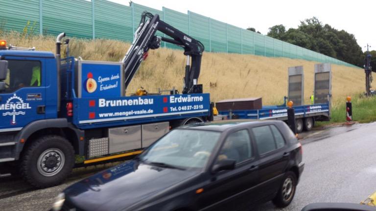 Bundesautobahn A 23: Bau von mehreren Grundwassermessstellen