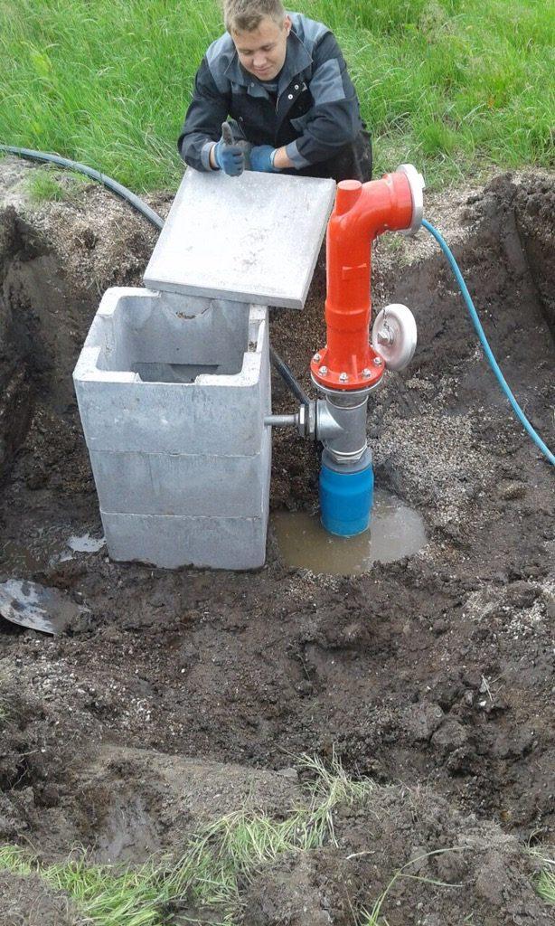 St. Annen: Bau einer frostsicheren Löschwasserentnahme…