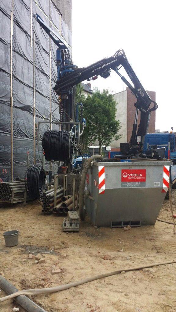 Itzehoe: Neubau eines Geschäfthauses beheizt mit Erdwärme