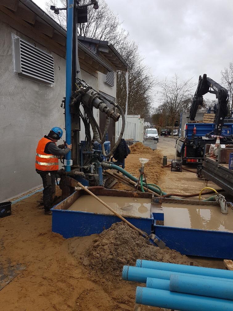 Pinneberg Bahnhof… Herstellung einer Betriebswasserversorgung