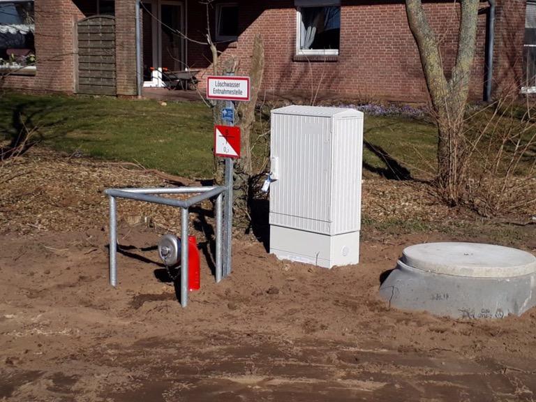 Nordhastedt… Löschwasserbrunnen für einen landwirtschaftlichen Betrieb.