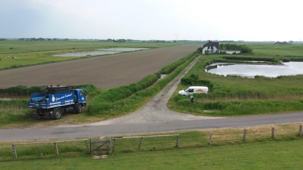 Nordseeinsel Pellworm… diverse Geothermiebohrungen bis zu 100 m zur ökonomischen Sanierung von Bestandshäusern und Neubau…