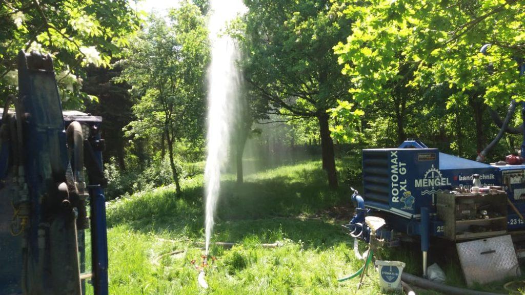 Heide…  Bau von 2 Löschwasserbrunnen in DN 150