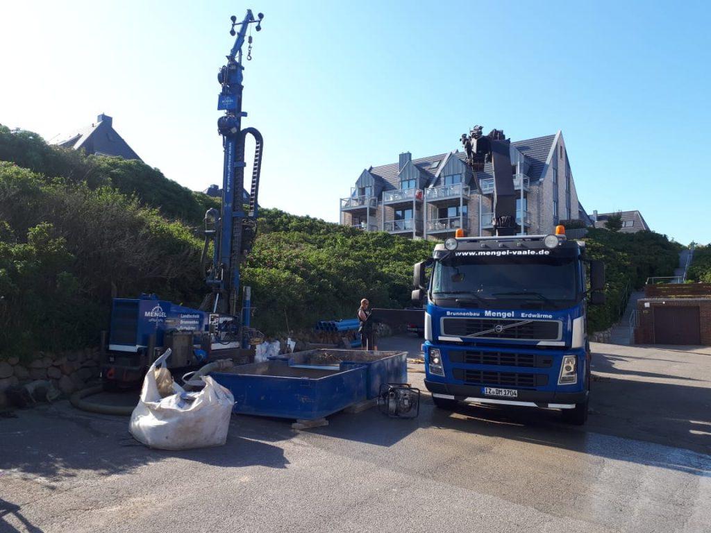 Insel Sylt… Erstellung eines Löschwasserbrunnen für Saugbetrieb
