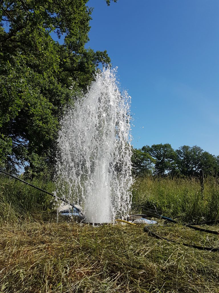 Hasloh… Trinkwasserbrunnen regeneriert…