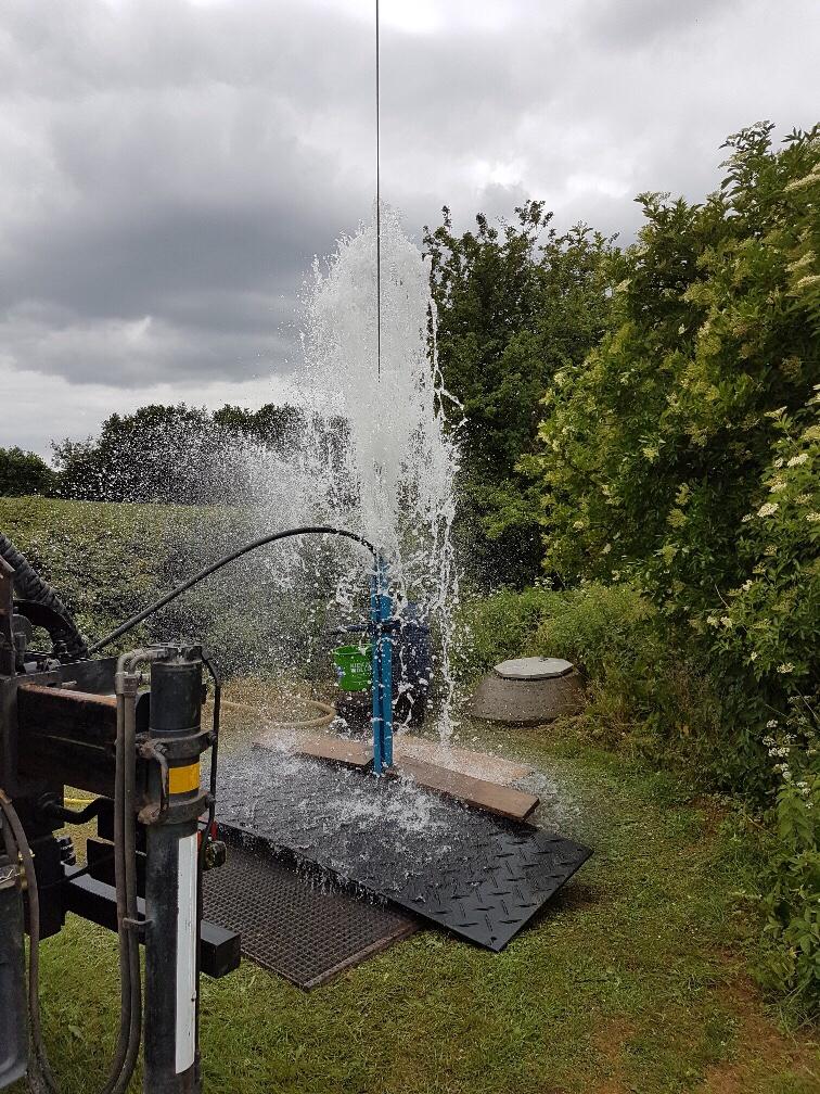 Beldorf… Wasserwerksbrunnen regeneriert…