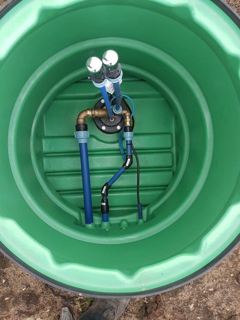 Kellinghusen… Einbau einer Brunnenstube im Bereich  von drückendem Grundwasser…
