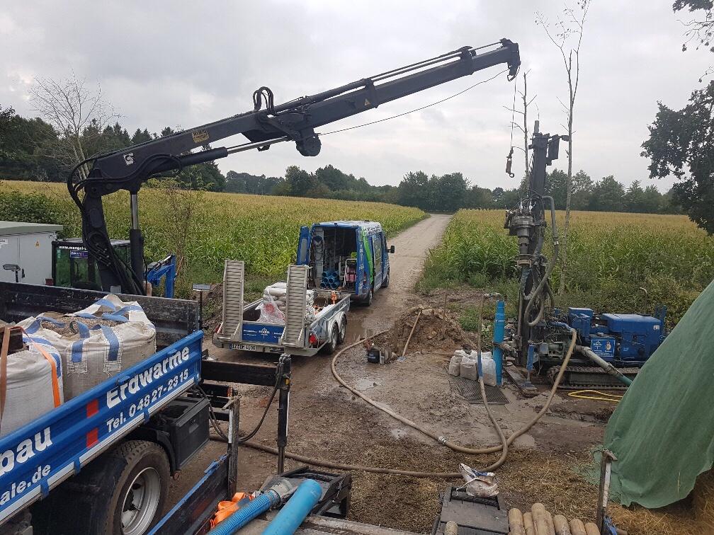 Kellingshusen… komplette Wasserversorgung und Löschwasserbrunnen für einen landwirtschaftlichen Neubau erstellt.