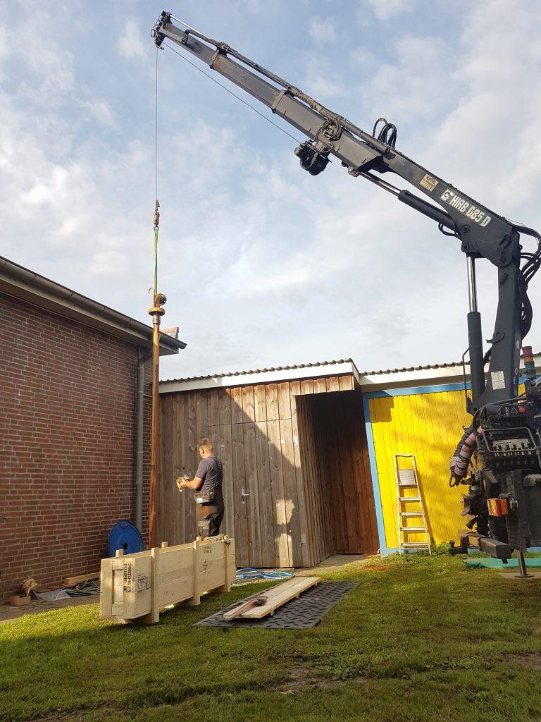 Oldendorf… Pumpe eines Ortswasserwerkes erneuert…