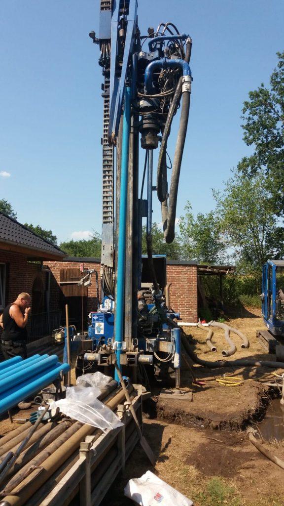 Winseldorf… Bau eines Trinkwasserbrunnen über 90 m tief…