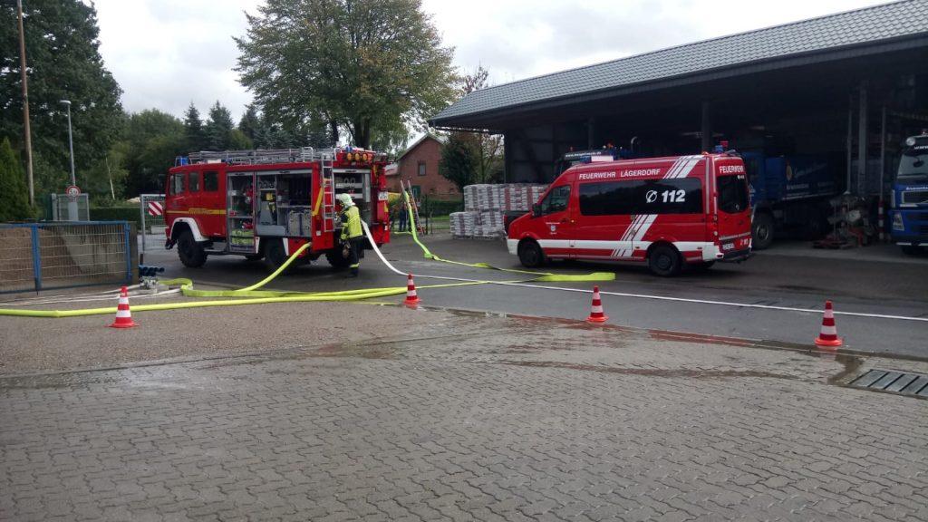 Sept. 2018…Jahresübung der Jugendfeuerwehren des Kreises Steinburg auf unserem Betriebsgelände…