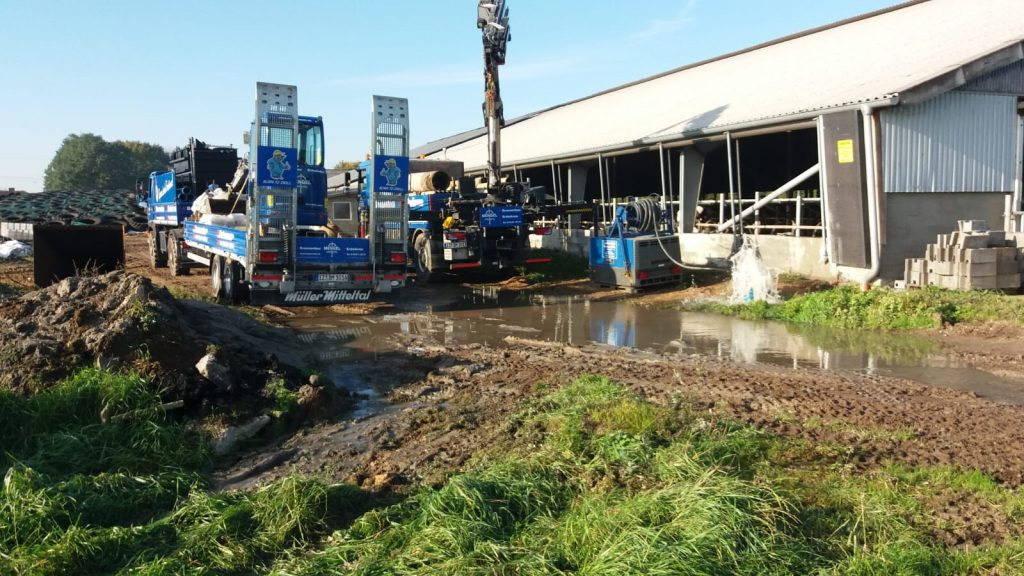 Jadelund… 2 Brunnen für einen landwirtschaftlichen Betrieb erstellt…
