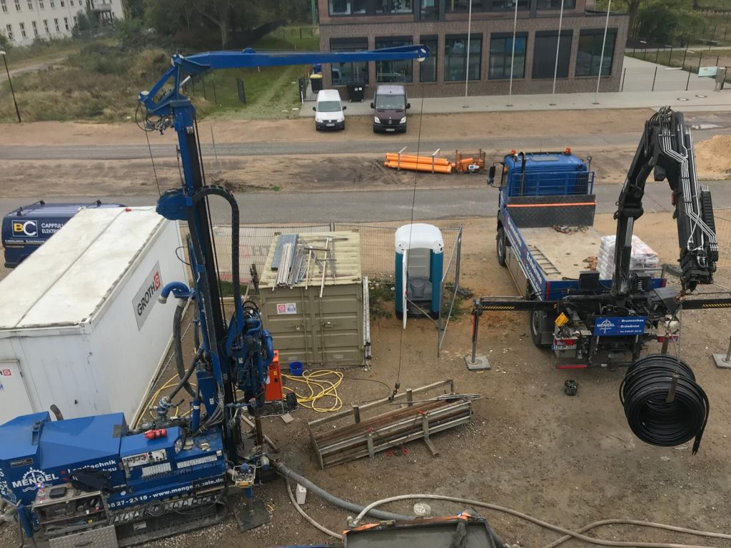 4 Sonden für eine Geothermieanlage in Pinneberg erstellt