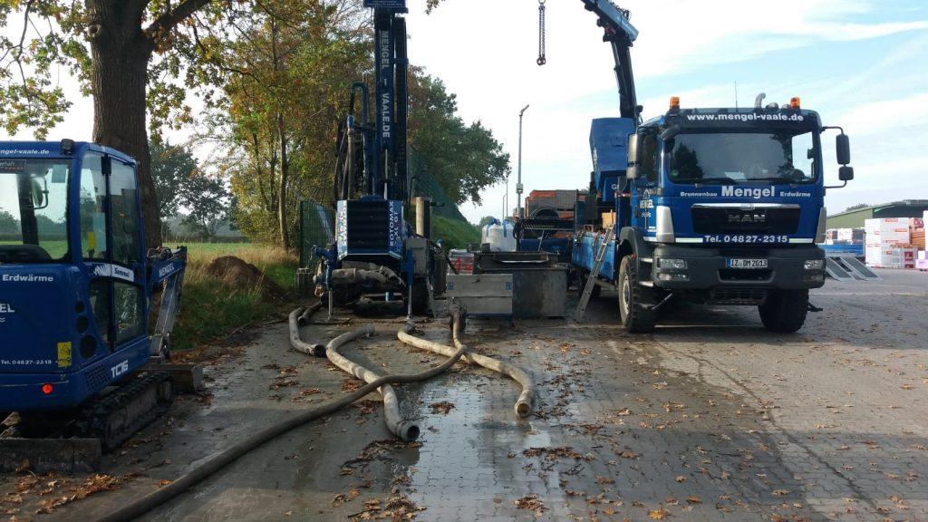 Tellingstedt… Bau eines 45 m tiefen Löschwasserbrunnens DN 150…