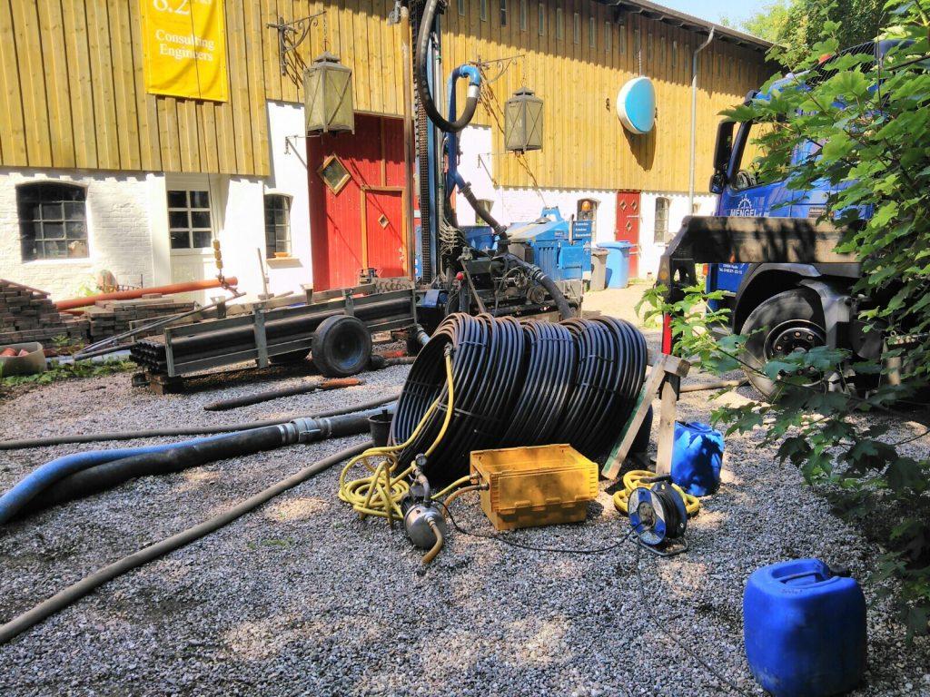 Süderdeich… 3 Erdwärmebohrungen jeweils 100 m für eine Umrüstung Altbestand auf regenerative Heiztechnik…