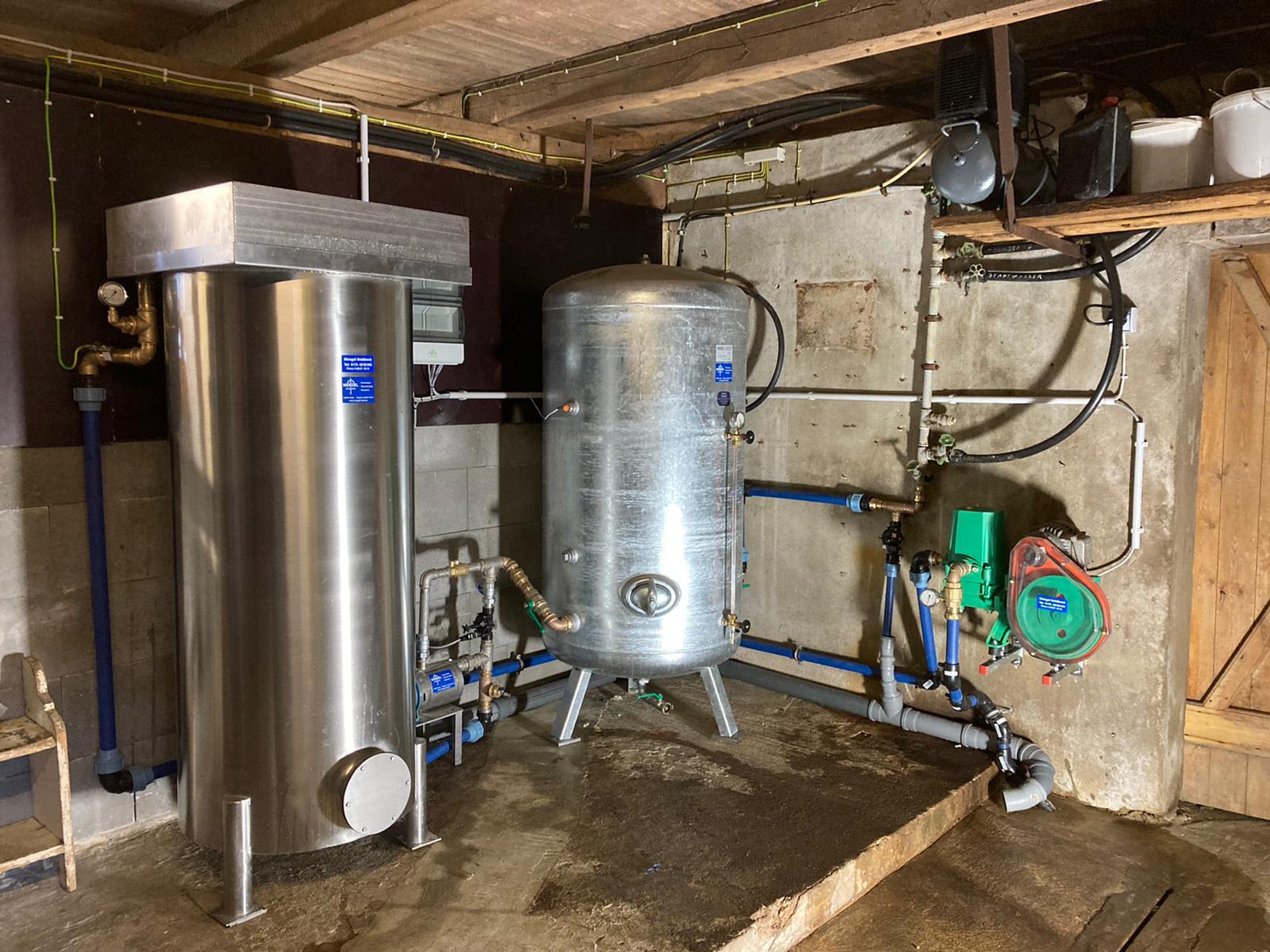 Offene Kiesfilteranlage installiert