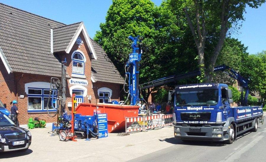 Osdorf… 106 m tiefe Erdwärmesonde für einen Neubau…